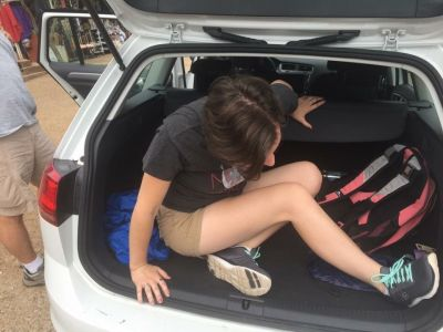 In the trunk